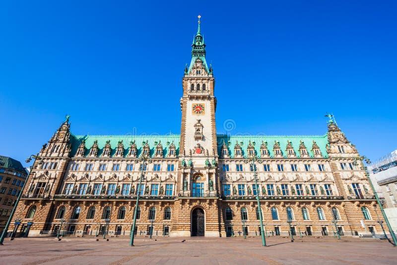 Ayuntamiento o Rathaus Hamburgo imagen de archivo