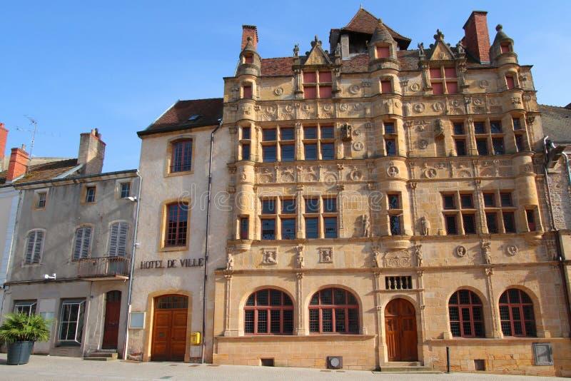 ayuntamiento Paray-le-Monial fotos de archivo libres de regalías