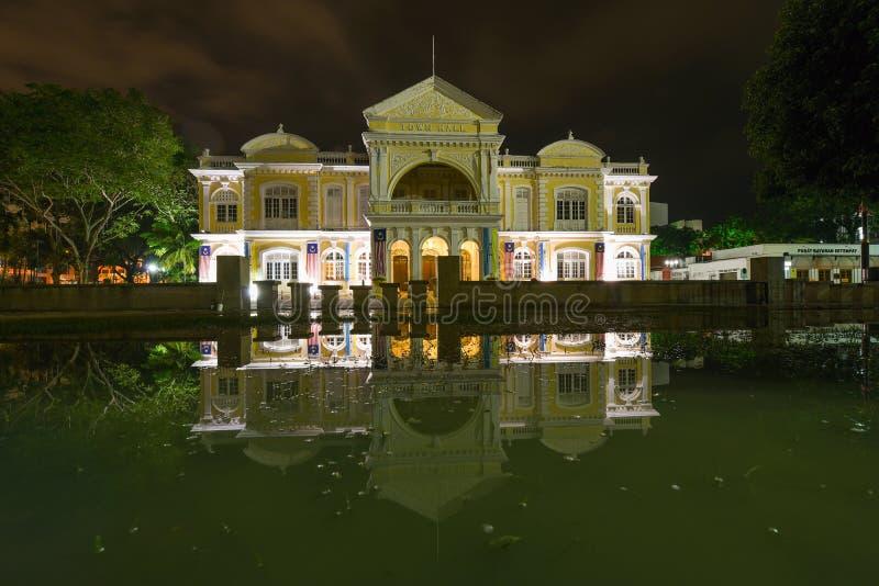 Ayuntamiento Penang en George Town imagenes de archivo