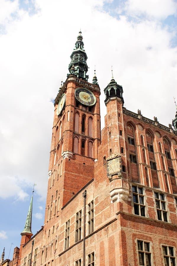 Ayuntamiento principal de Gdansk, Polonia foto de archivo libre de regalías