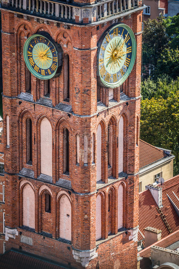 Ayuntamiento principal de Gdansk, Polonia imagenes de archivo