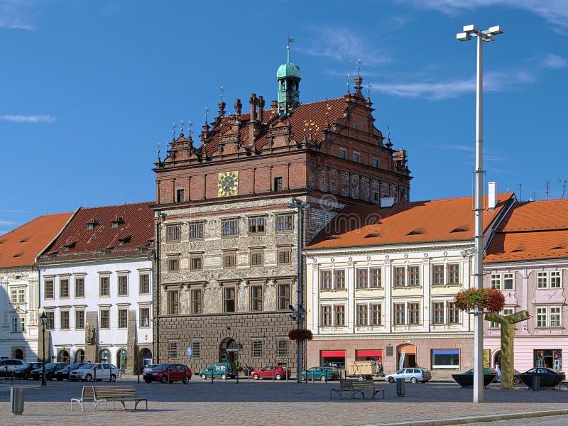 Ayuntamiento, República Checa Plzen imágenes de archivo libres de regalías