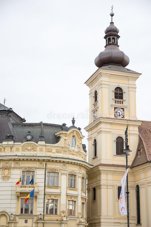 Ayuntamiento, Sibiu imagenes de archivo