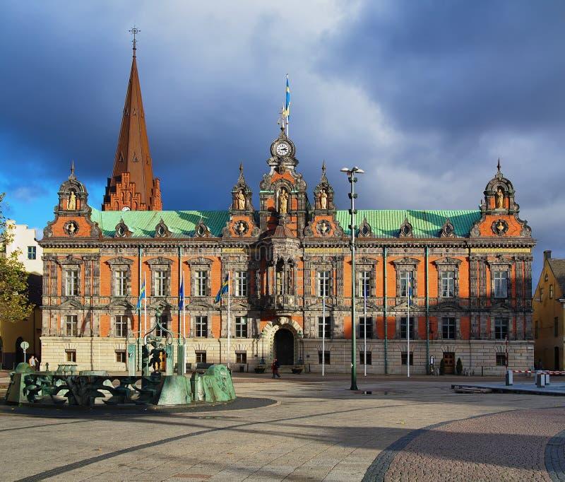 Ayuntamiento, Suecia Malmo! fotos de archivo libres de regalías