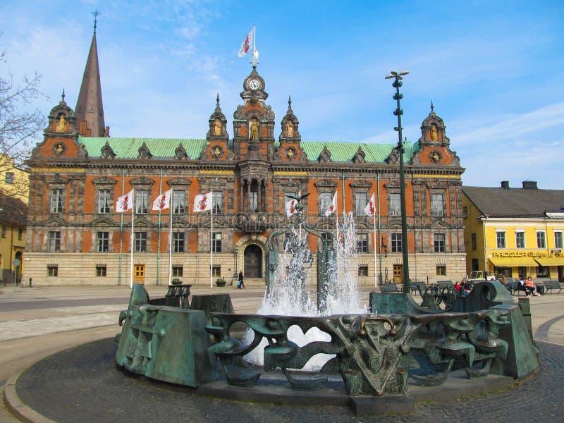 Ayuntamiento, Suecia Malmo! imagen de archivo