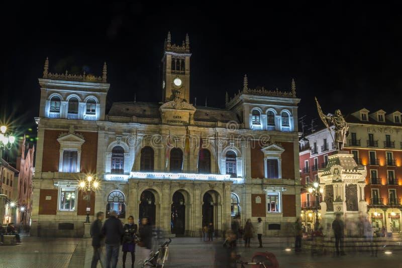 Ayuntamiento Valladolid, España imagenes de archivo