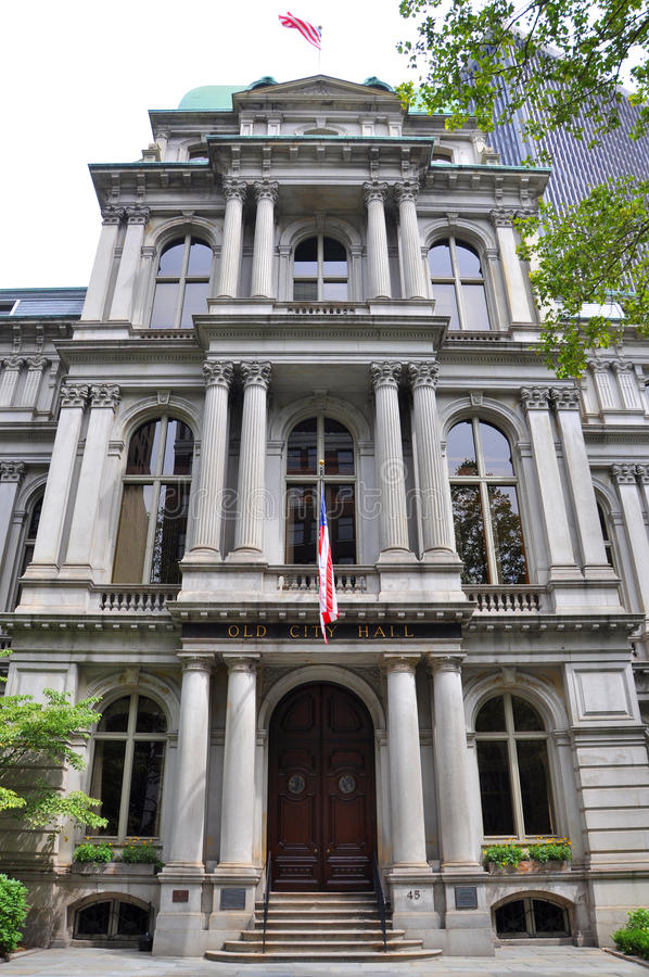 Ayuntamiento viejo, Boston, los E.E.U.U. imagen de archivo libre de regalías