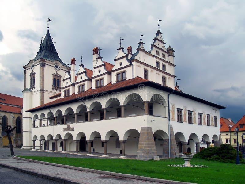 Ayuntamiento viejo de Levoca, Eslovaquia fotos de archivo