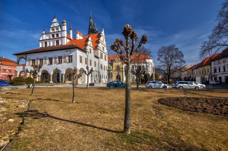 Ayuntamiento viejo en Levoca fotografía de archivo libre de regalías