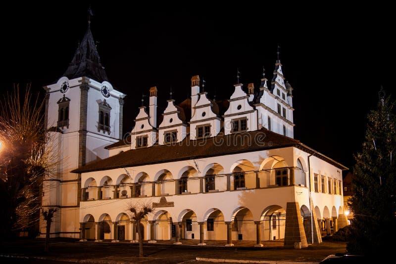 Ayuntamiento viejo en Levoca imagenes de archivo