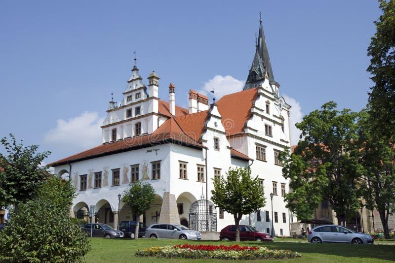 Ayuntamiento viejo en Levoca, Eslovaquia imagen de archivo