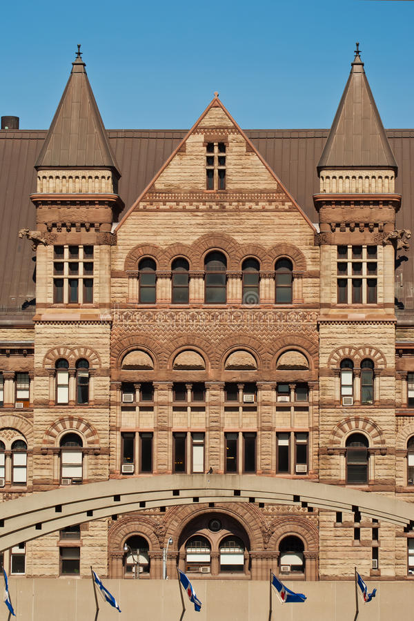 Ayuntamiento viejo en Toronto, Ontario, Canadá imagen de archivo