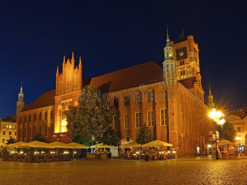 Ayuntamiento viejo en Torun, Polonia fotografía de archivo libre de regalías