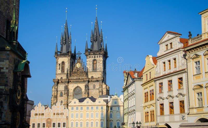 Ayuntamiento viejo y reloj astronómico, Praga, República Checa imagen de archivo