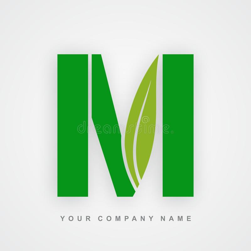 Ayurveda, ambiente o lettera organica m. di logo illustrazione vettoriale