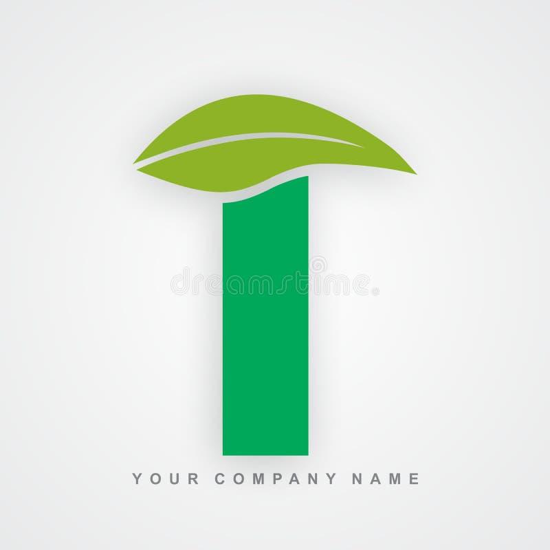 Ayurveda, ambiente ou letra orgânica t do logotipo ilustração do vetor