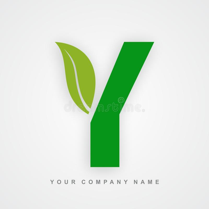 Ayurveda, ambiente ou letra orgânica y do logotipo ilustração royalty free