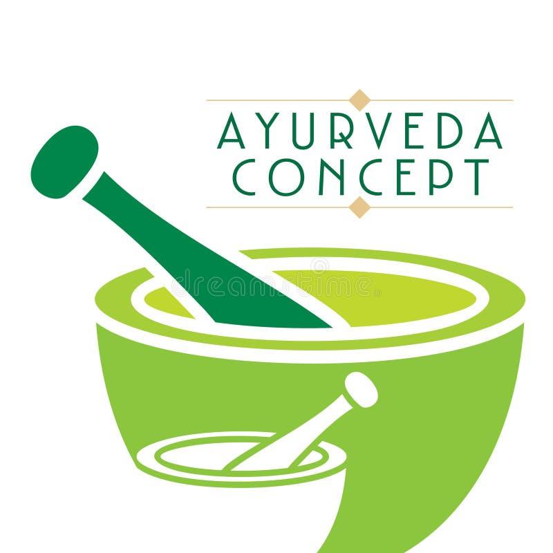 Ayurveda concept. Creative ayurveda concept vector illustration stock illustration