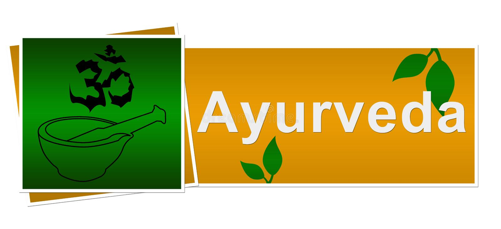 Download Ayurveda Green Brown Two Squares Stock Illustration - Image: 36968303