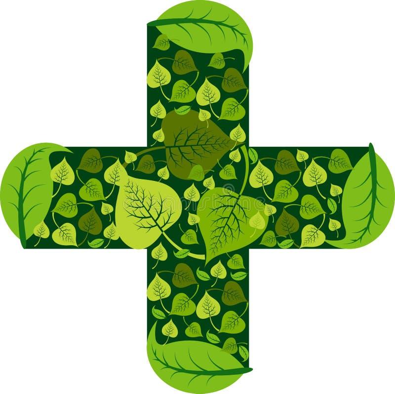 Ayurveda medical logo. Illustration art of a ayurveda medical logo with isolated background royalty free illustration