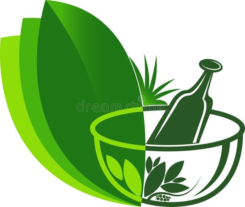 Ayurveda medicine logo. Illustration art of a Ayurveda medicine logo with isolated background royalty free illustration