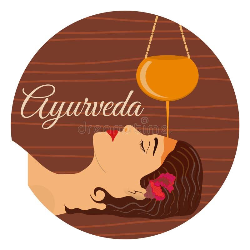 Ayurveda, trattamento ayurvedic illustrazione di stock