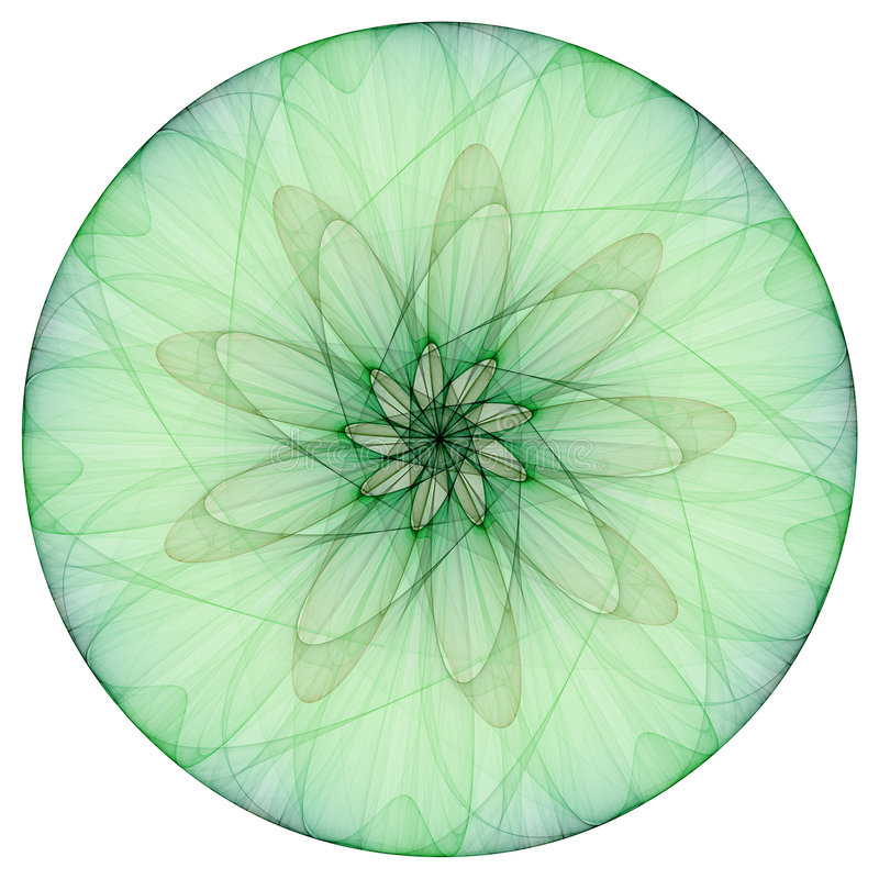 Ayurveda vert illustration stock