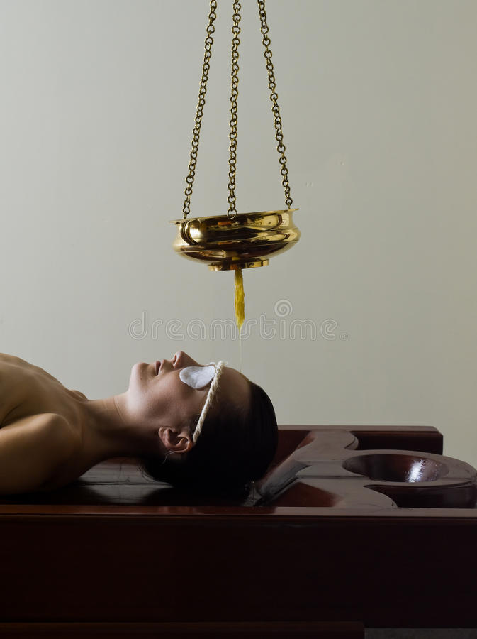 Ayurvedic massage care. From tradional medecine from kerala india stock image