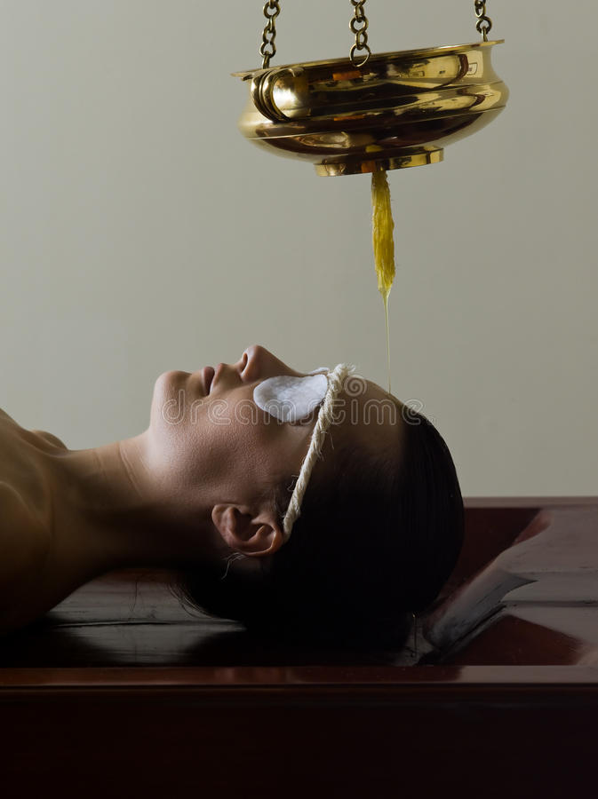 Ayurvedic massage care. From tradional medecine from kerala india royalty free stock photography