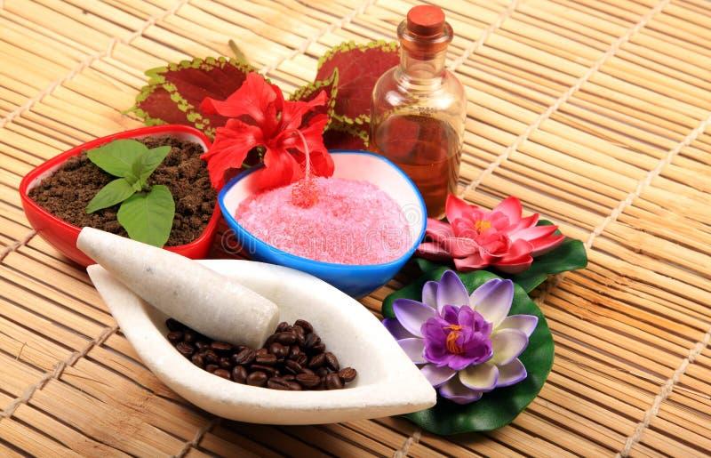 Ayurvedic spa items stock photography