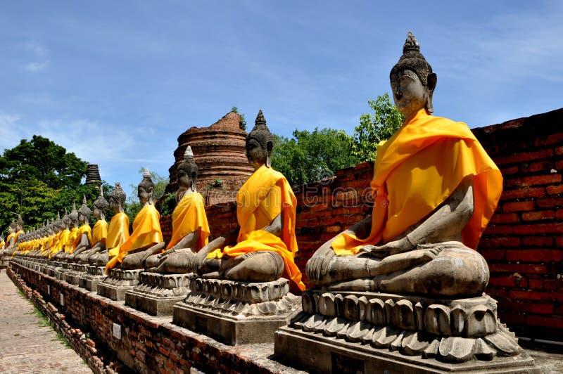 ayuthayabuddastaty royaltyfri fotografi