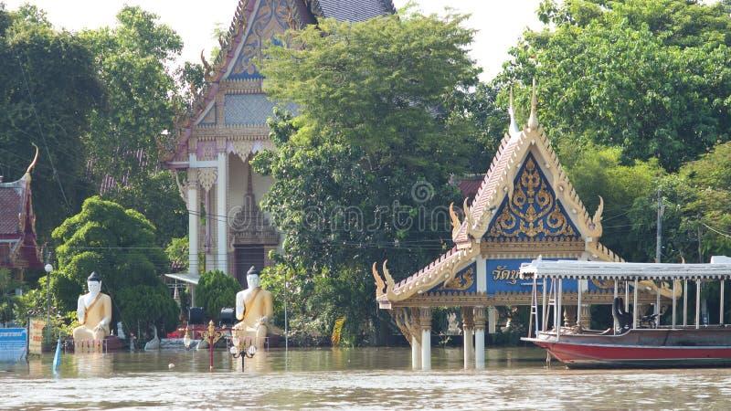 ayuttaya季风季节泰国 库存照片