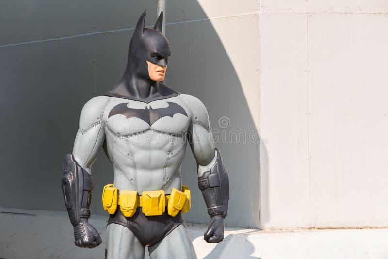 Ayuttaya, Thaïlande - 15 novembre 2015 : Modèle de Batman chez Thung B images libres de droits