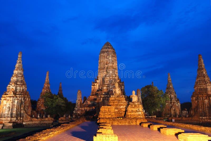 ayutthaya寺庙泰国watchiwattanaram 库存图片
