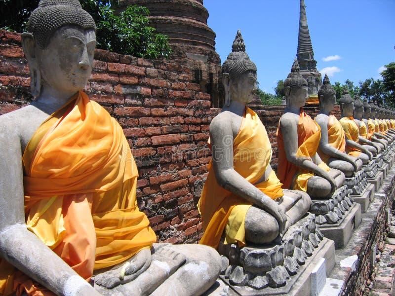 ayutthaya Будда стоковое фото rf