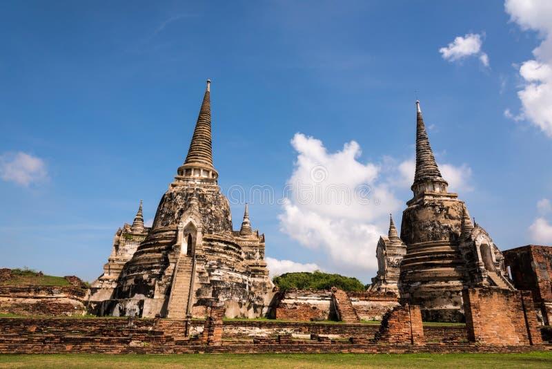 Ayutthaya Таиланд - древний город и историческое место Wat Phra стоковые фото
