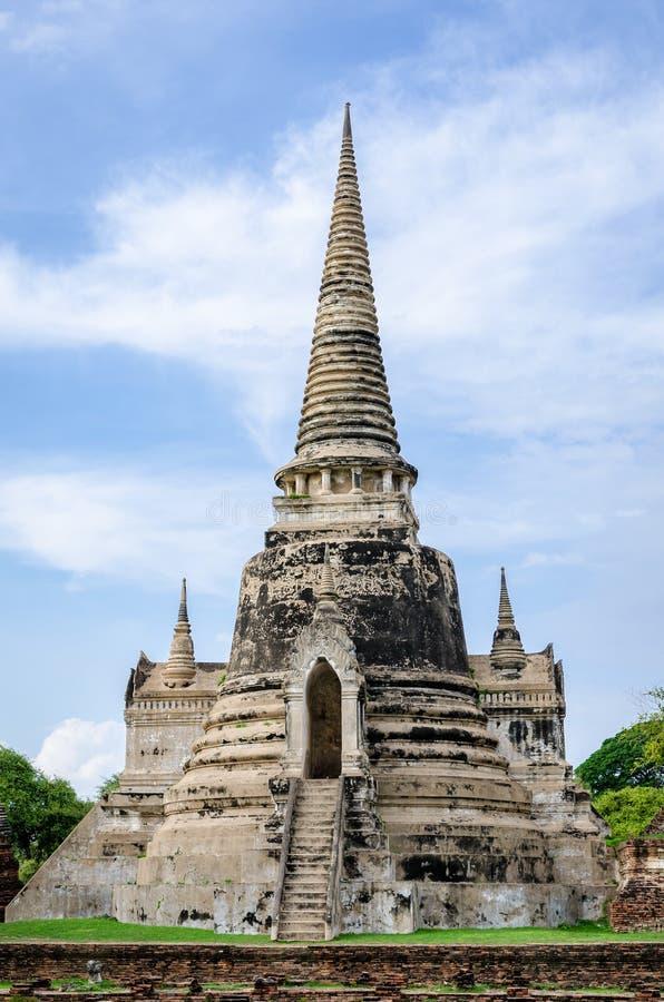 Ayutthaya (Таиланд) Wat Phra Si Sanphet стоковая фотография