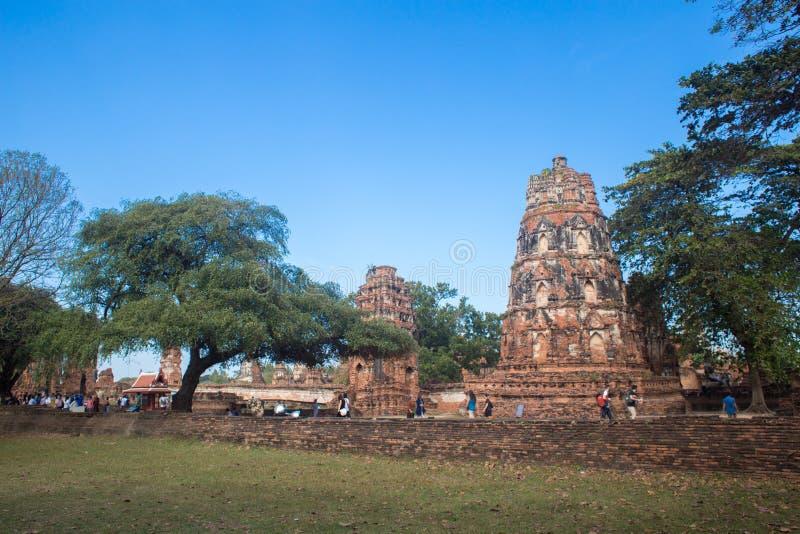 Ayutthaya ancient capital of thailand stock photos