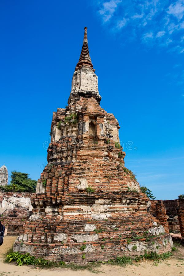 Ayutthaya ancient capital of thailand. Ruins and archaeological park tailand royalty free stock photos