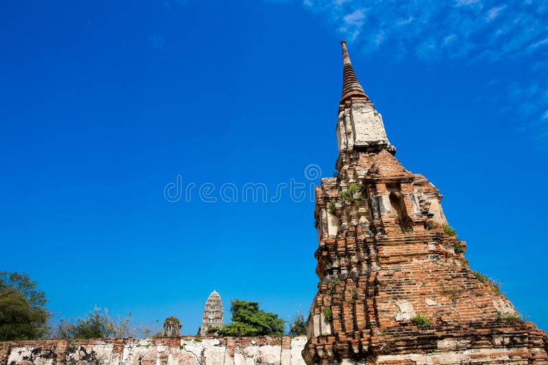 Ayutthaya ancient capital of thailand. Ruins and archaeological park tailand royalty free stock photography
