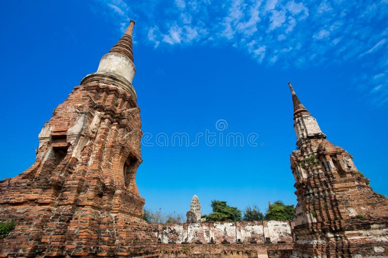 Ayutthaya ancient capital of thailand. Ruins and archaeological park tailand stock photo