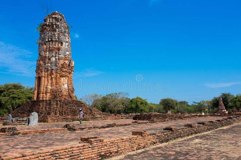 Ayutthaya ancient capital of thailand. Ruins and archaeological park tailand royalty free stock image