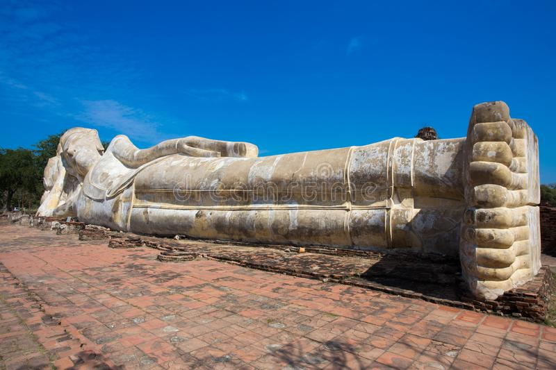 Ayutthaya ancient capital of thailand. Ruins and archaeological park tailand stock image