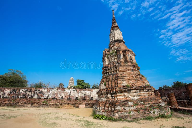 Ayutthaya ancient capital of thailand. Ruins and archaeological park tailand royalty free stock photo