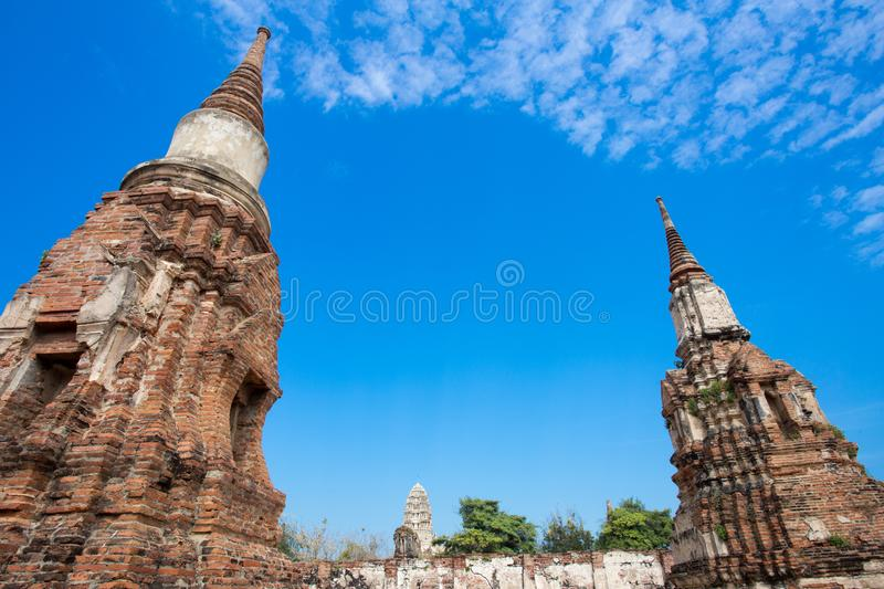 Ayutthaya ancient capital of thailand. Ruins and archaeological park tailand stock images