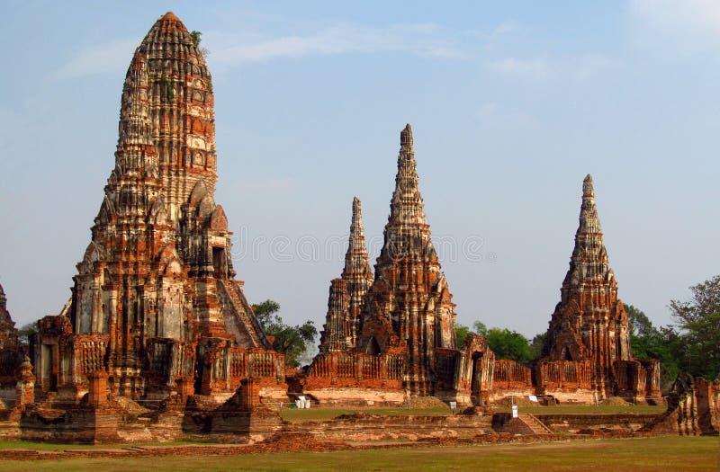 Ayutthaya ancient temple ruins stock photos
