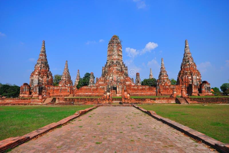 ayutthaya antyczna świątynia Thailand obraz royalty free