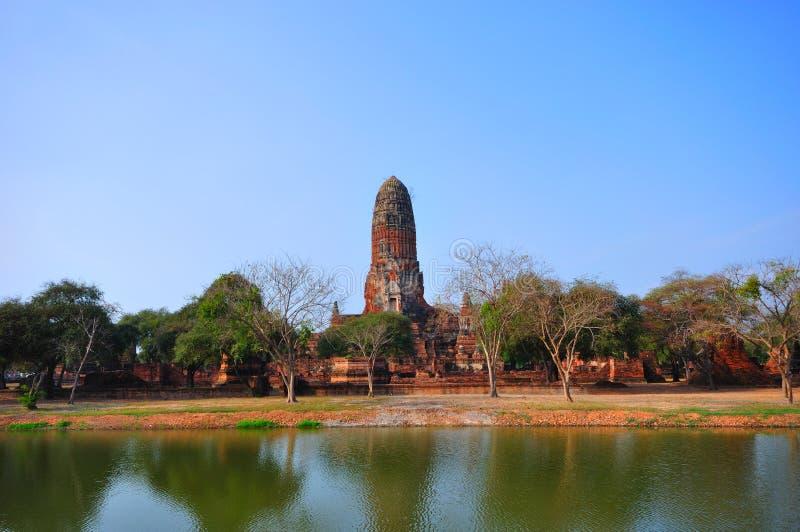 ayutthaya antyczna świątynia Thailand fotografia royalty free