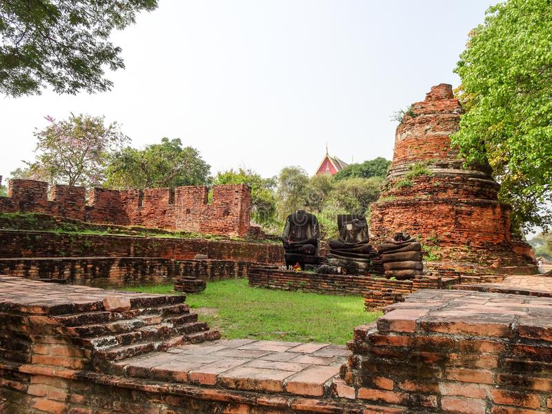 Ayutthaya capital of the Kingdom of Siam stock photo