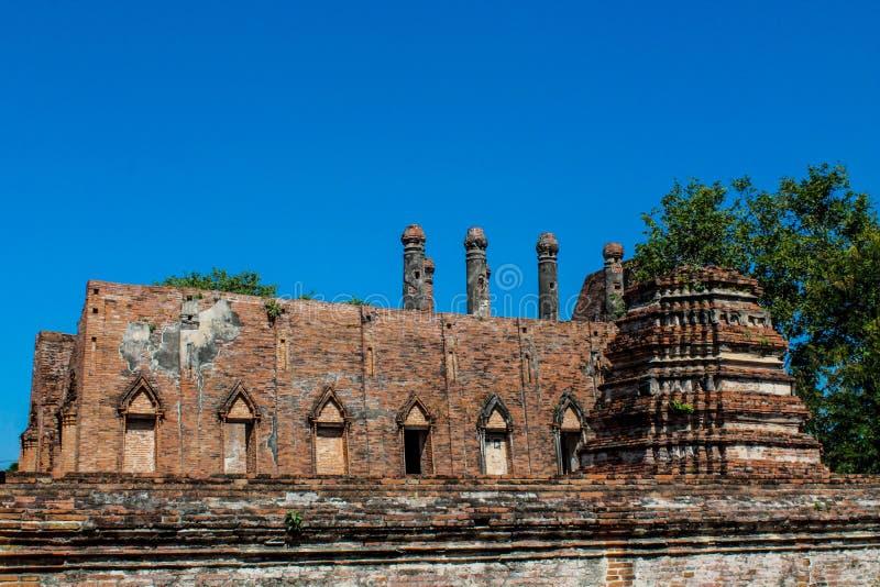 Ayutthaya Dziejowe Parkowe antyczne ruiny wat obrazy royalty free